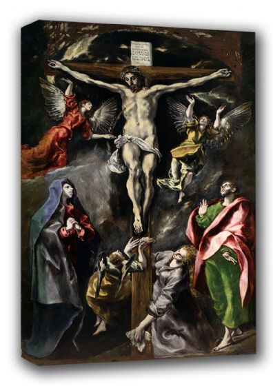 El Greco (Domenico Theotocopuli): Christ on the Cross. Fine Art Canvas. Sizes: A3/A2/A1. (00664)
